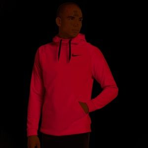 Nike Mens Red Long Sleeve Therma Training Pullover